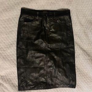 Burberry Leather Skirt!